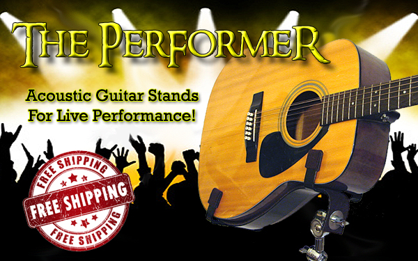 Are you looking for a live performance Acoustic Guitar Stand? Look no further! We offer stands designed and hand-crafted by pro-musicians for musicians on every level! Whether you're just getting started or a seasoned pro touring, this guitar stand is exactly what you have been looking for! Made from high-quality materials, this adjustable stand conforms to your natural playing position. Tired of carrying that guitar around your neck? Maybe you need to switch between guitars in the middle of a song? Whatever the reason you need to free up your guitar, you won't be disappointed when you put your trust in us and your guitar in our stand backed up by our risk-free money-back guarantee! Don't be fooled by inferior products who charge more! Show that musician in your life you care by putting a smile on their face by buying this professional grade acoustic guitar stand for them at an affordable price for you!